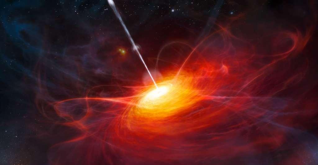 Vue d'artiste d'un quasar lointain. © ESO, M. Kornmesser, CC by 4.0