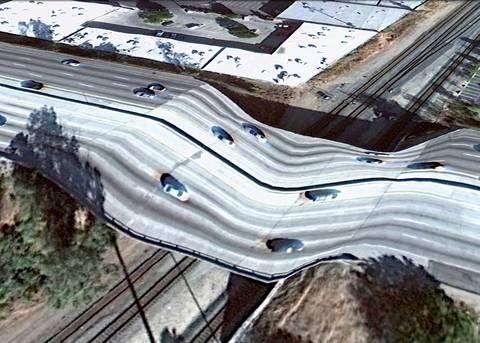 Google Earth en 3D ne gère pas bien les ponts... © Clément Valla