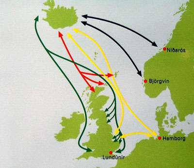 Échanges de l'Islande avec l'Europe. © DR
