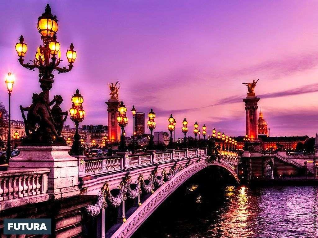 Paris : Pont Alexandre III inauguré pour l'Exposition universelle de Paris en 1900.