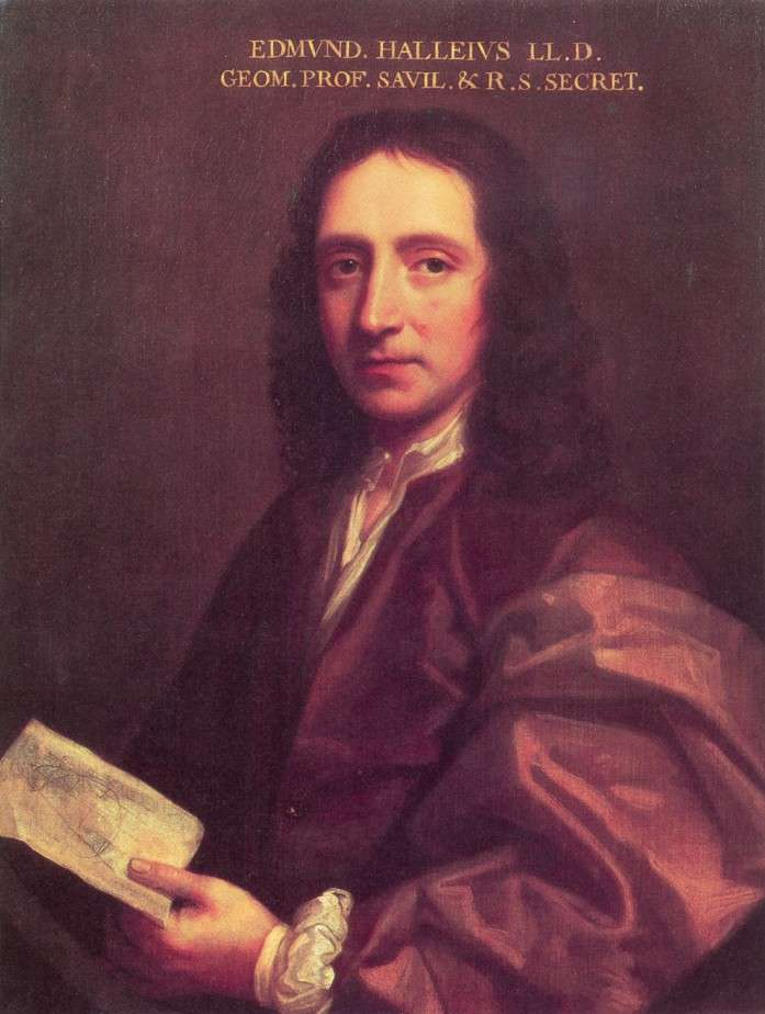 Portrait d'Edmond Halley réalisé en 1687 par Thomas Murray. © Royal Society