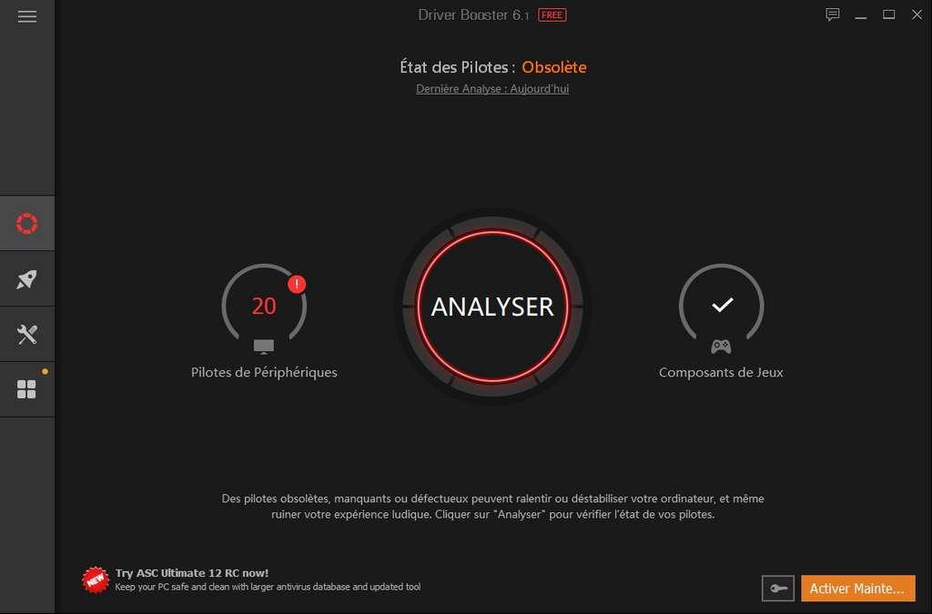 Il suffit de cliquer sur Analyser pour voir les pilotes à mettre à jour ! ©Iobit