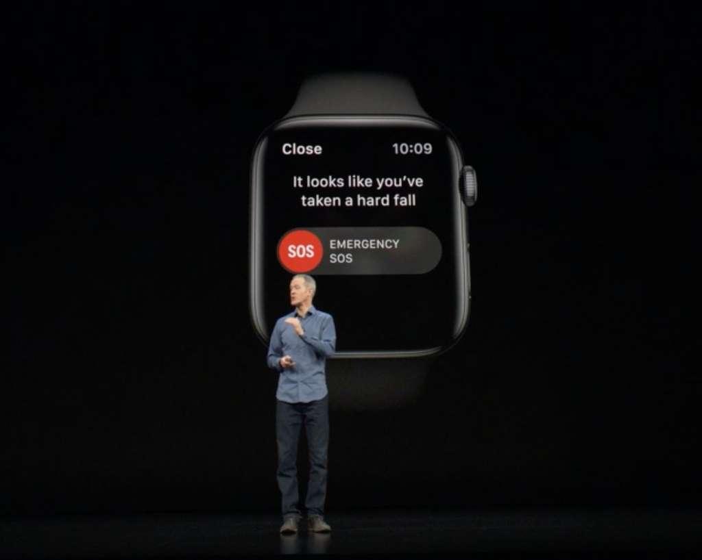 L'Apple WAtch Series 4 d'Apple intègre un système de détection des chutes. © Apple