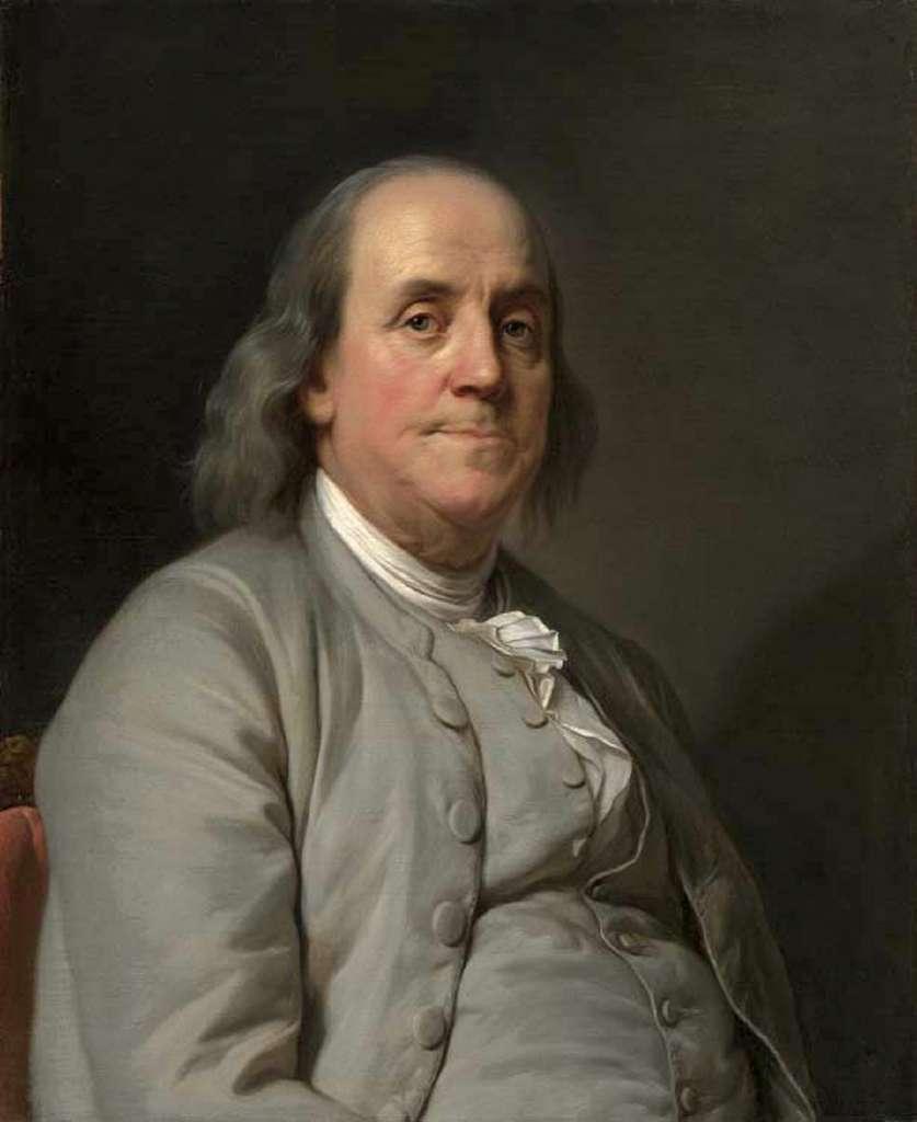 Portrait de Benjamin Franklin par Joseph Duplessis, vers 1778. National Portrait Gallery, Washington, USA. © Wikimedia Commons, domaine public.