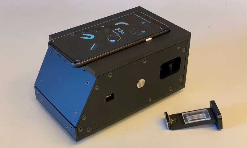 L'appareil de dépistage du coronavirus élaboré par les scientifiques américains. © Daniel Fletcher et Melanie Ott
