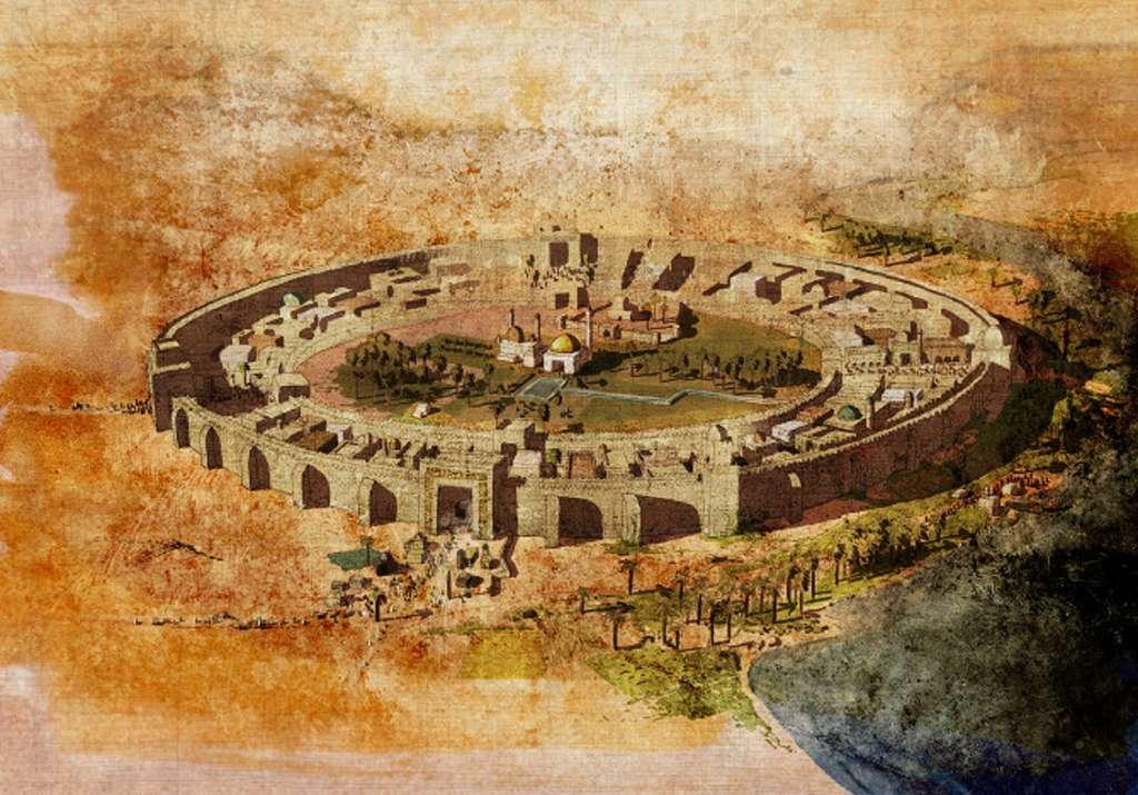 Ville ronde de Bagdad, capitale abbasside fondée en 762. Auteur anonyme. © Histoire islamique.