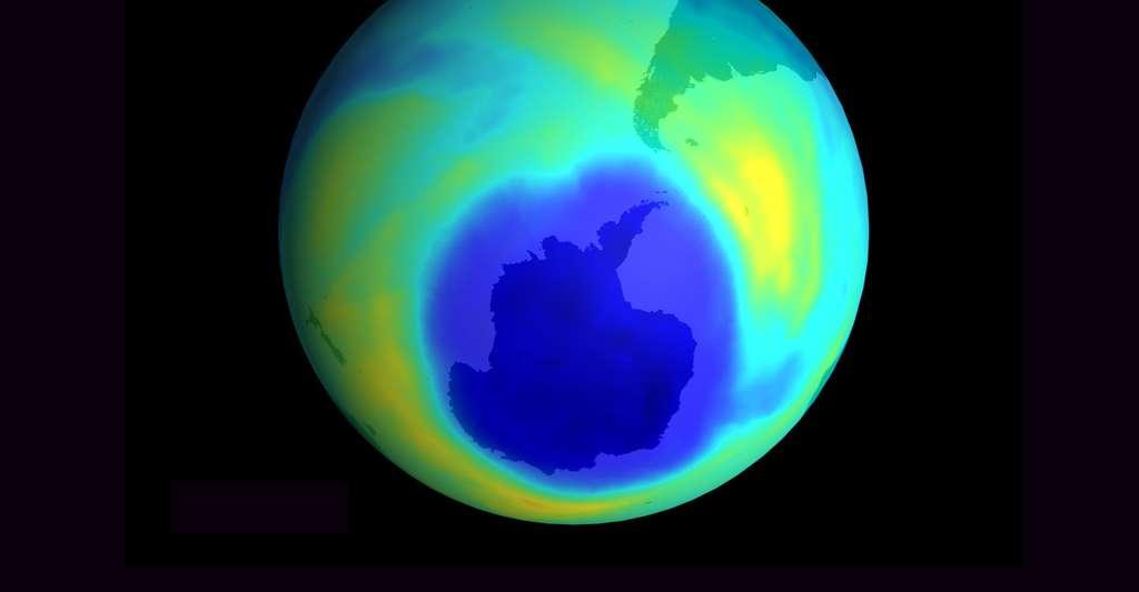 Trou dans la couche d'ozone. © NASA, Wikimedia commons, DP