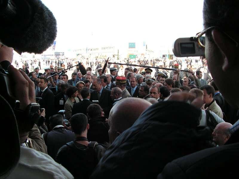 Inauguration du Salon par J. Chirac