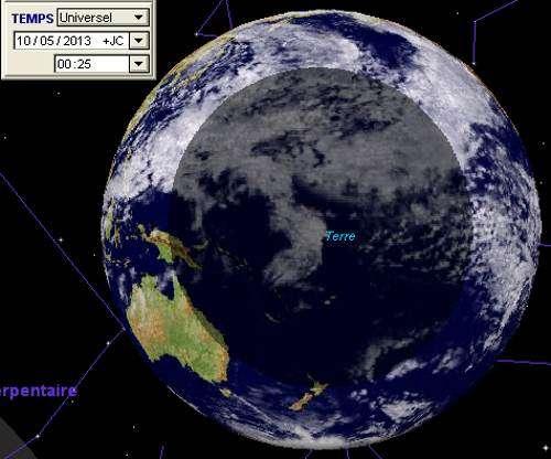 La première éclipse solaire de l'année, qui est une éclipse annulaire, sera notamment visible depuis certaines îles du Pacifique. © DR