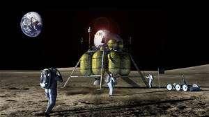 En l'état, le budget de la Nasa ne permet pas de développer de nouveaux systèmes et de poursuivre ceux qui existent déjà (à l'image de l'atterrisseur lunaire Altair). Crédit Nasa