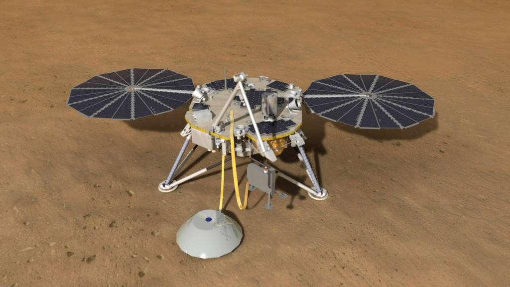 Pour sa prochaine mission sur la surface martienne, la Nasa opte pour un atterrisseur. Insight, c'est son nom, explorera le sous-sol de Mars d'une façon inédite, à l'aide d'un sismomètre. Premières données attendues entre septembre et octobre 2016. © Nasa