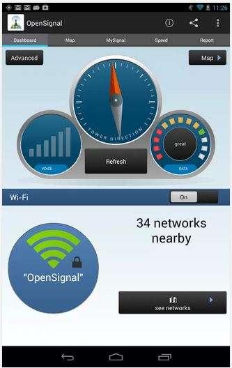 L'application Android OpenSignal sert principalement à connaître la qualité des réseaux Wi-Fi et cellulaires. Mais ses concepteurs ont découvert que les informations qu'elle collectait sur la température du smartphone pouvaient être corrélées avec des températures extérieures. Pour compenser les variables liées aux conditions d'utilisation des mobiles, le volume de données partagées par les utilisateurs joue un rôle primordial. Plus il y a de contributeurs, plus grande est la précision des données. © OpenSignal