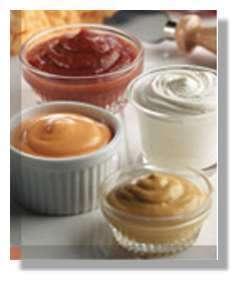 Différentes sauces