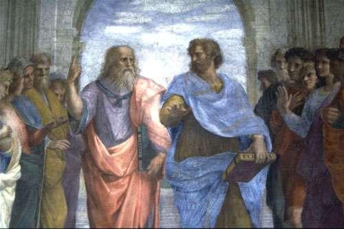 Platon et Aristote peints par Raphaël. © DP