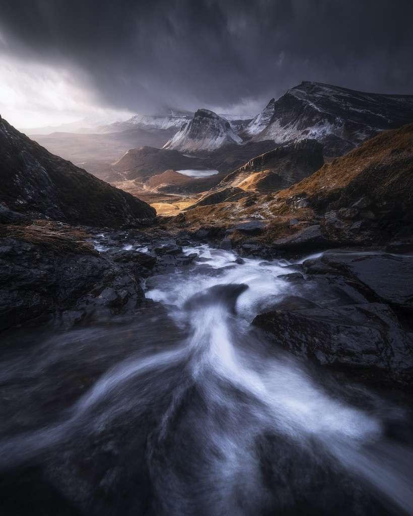 Les flots, Highland, Écosse, Royaume-Uni