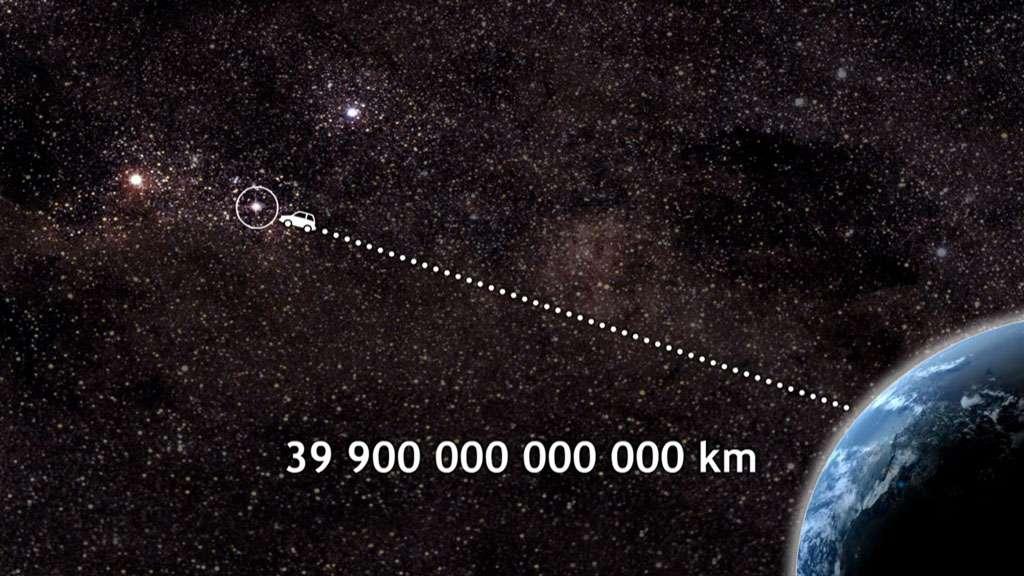 Proxima du Centaure, l'étoile la plus proche du Soleil