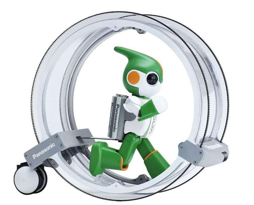 Evolta dans l'un de ses moyens de transport. © Panasonic Corp.