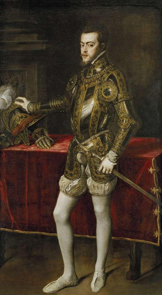 Portrait de Philippe II d'Espagne par Le Titien vers 1555 (?). Musée du Prado, Madrid. © Wikimedia Commons, domaine public