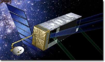 SIM en orbite solaire (vue d'artiste). Crédit NASA / JPL.