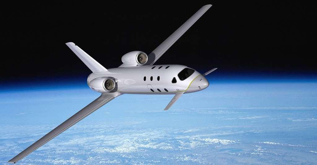 Le Spaceplane d'Astrium, conçu pour transporter quatre passagers, sera capable de voler une trentaine de fois avant chaque changement du bloc moteur. © Astrium