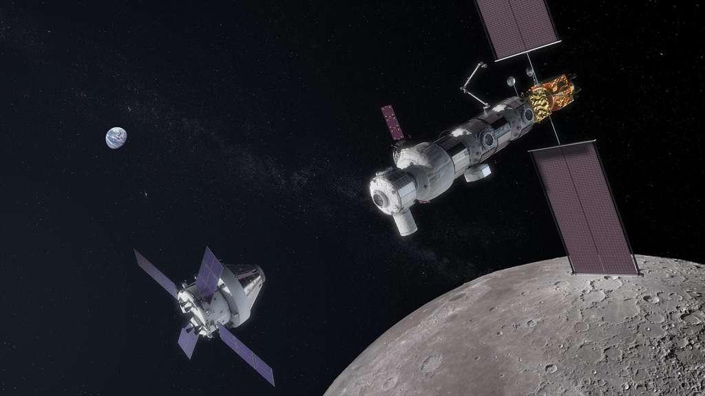 Le véhicule Orion et le Gateway de la Nasa. © Nasa