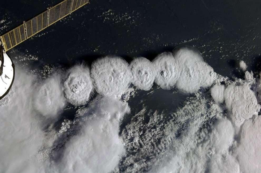 Nuages vus de l'ISS