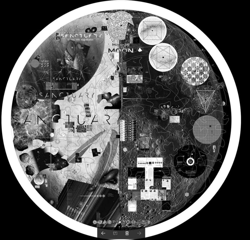 Un disque de démonstration du projet Sanctuary. Les disques finaux, d'un diamètre de 9 cm, seront composés de deux milliards de pixels de 1,4 micron chacun. © Sanctuary Project