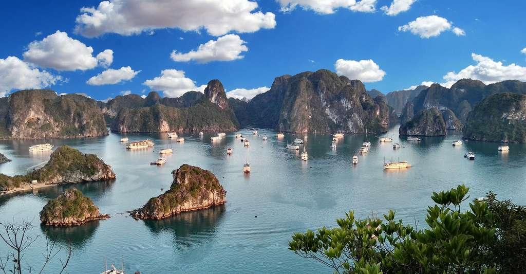 La baie d'Halong au Vietnam. © IronyMerony, Pixabay, DP