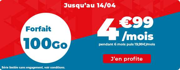 Forfait 100 Go à prix cassé © Auchan Télécom