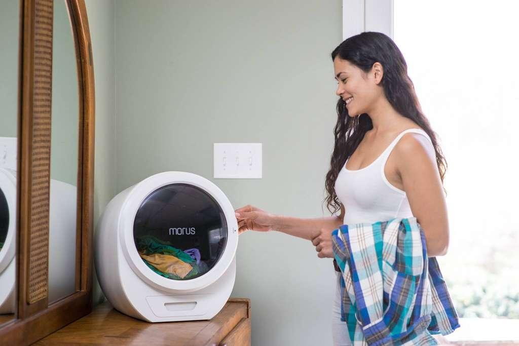 La mini-sécheuse Morus Zero fonctionne à basse pression pour économiser l'énergie et préserver les vêtements. © Morus