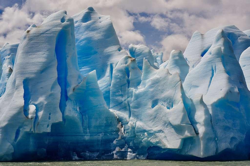 Le glacier Grey, un glacier au bord de la rupture