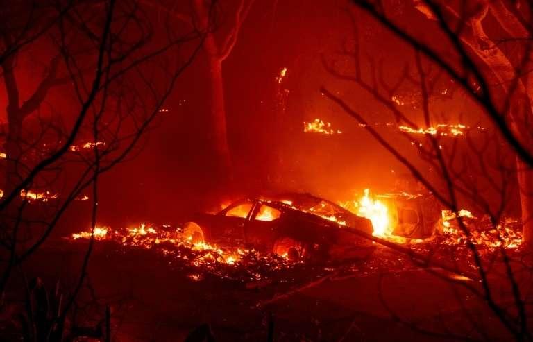 L'incendie de grande ampleur « LNU Lightning Complex », le 19 août 2020. © Josh Edelson, AFP