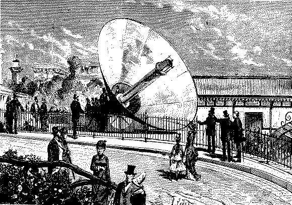 La « Machine solaire » d'Augustin Mouchot. © Domaine public