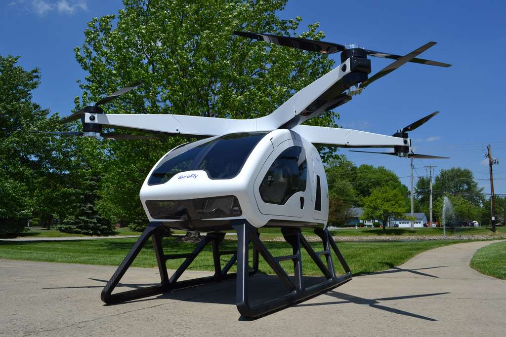 Le drone taxi SureFly. © Workhorse