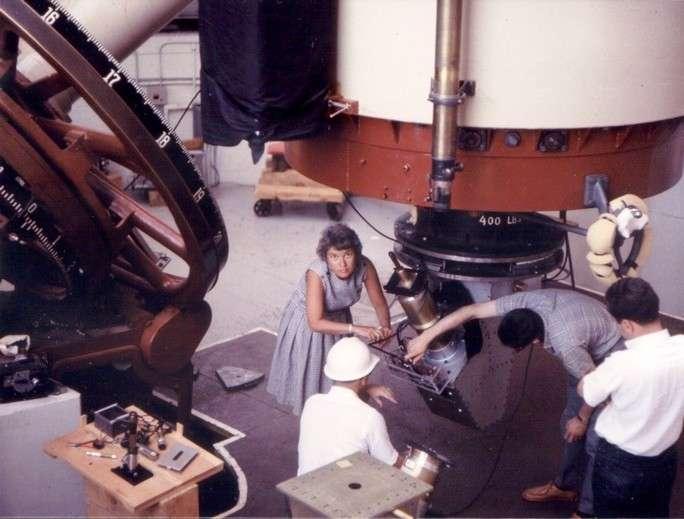 Vera Rubin à l'observatoire Lowell en Arizona vers 1965. © Carnegie Institution for Science