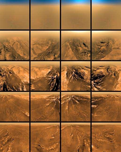 Images de la descente de Huygens sur Titan (quatre points cardinaux)