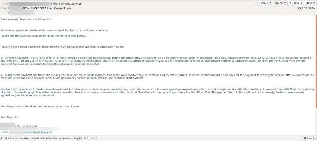 L'e-mail reçu semble quasi authentique et pourtant c'est un faux. © IBM