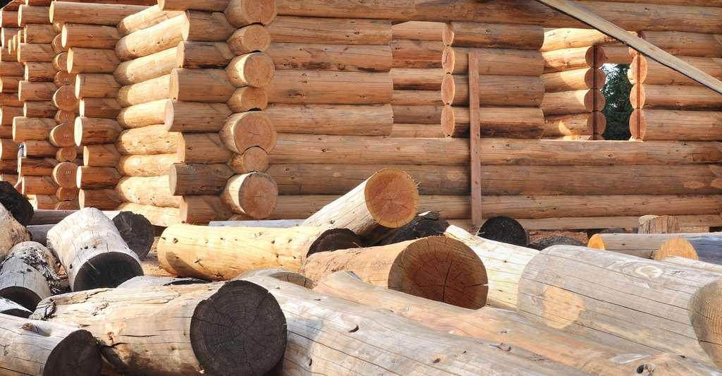 Chalet en rondins de bois. © Coco, Fotolia