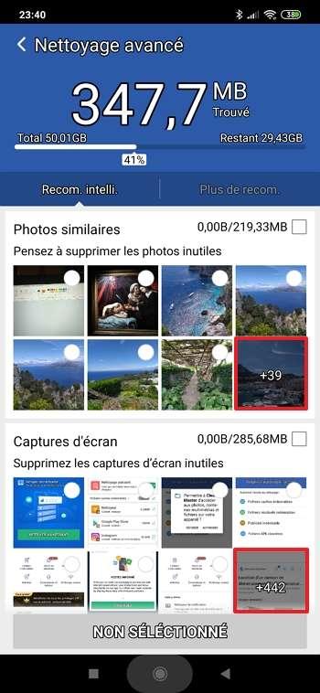 Supprimez vos photos en double et vos captures d'écran inutiles. © Cheetah Mobile