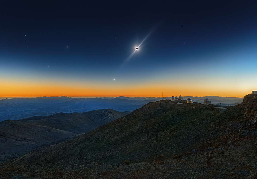 Total Solar Eclipse, Venus and the Red Giant Betelgeuse. © Sebastian Voltmer, Insight Investment Astronomy Photographer of the Year