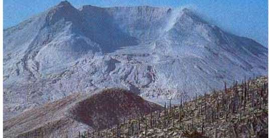 Cratère du mont St-Helens aux États-Unis. © DR