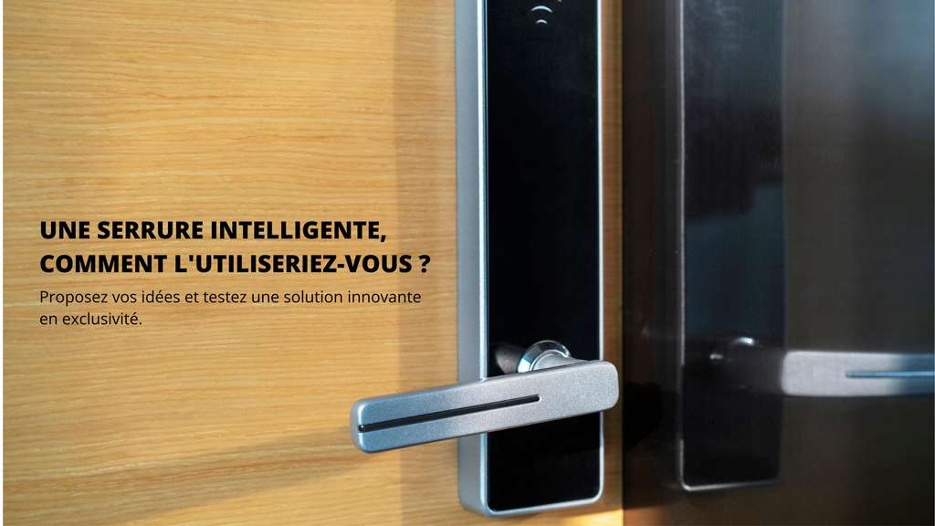 Une serrure intelligente, comment l'utiliseriez-vous ? © EDF Pulse & You