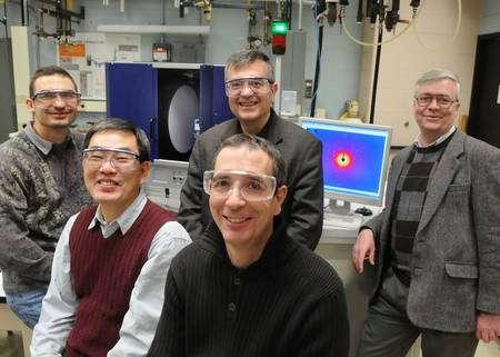 L'équipe de chercheurs de Laboratoire National Argone. Derrière, Iliya Todorov, Mercouri Kanatzidis, Ray Osborn et devant Duck Young Chung, Stephan Rosenkranz. Crédit Argonne National Laboratory