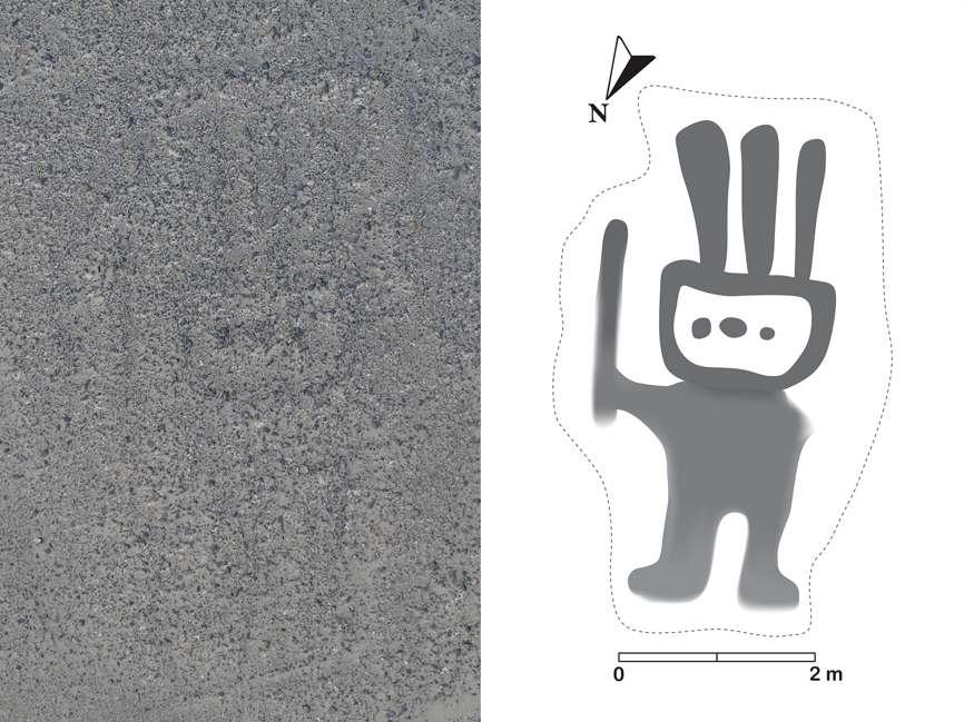 Une intelligence artificielle (IBM Watson Machine Learning Community Edition), mise au point par des humains d'aujourd'hui, a permis aux archéologues de l'université de Yamagata (Japon) de mettre au jour un géoglyphe imaginé par des populations anciennes et dont la symbolique reste encore mystérieuse. © Université de Yamagata