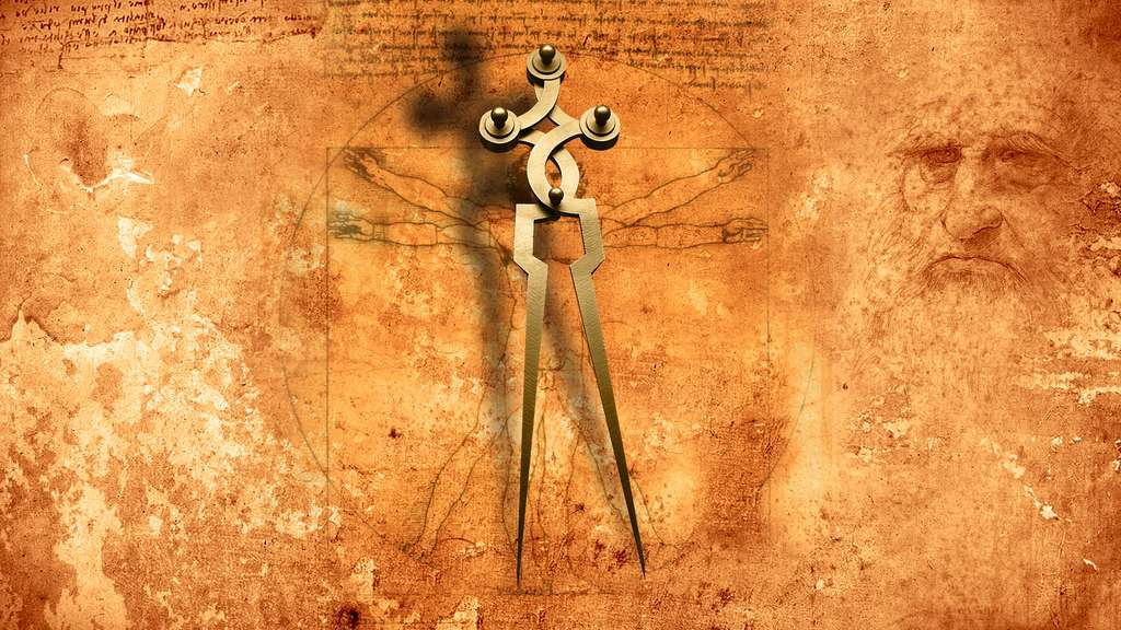 L'Homme de Vitruve, le compas et les proportions