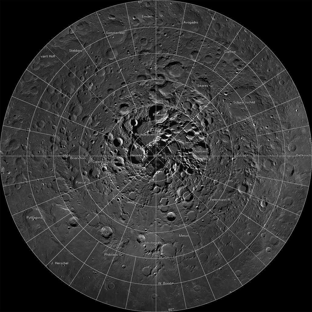 L'une des missions de la sonde lunaire Ladee était de chercher des traces de composés hydratés sur la Lune et de mieux comprendre leur migration à partir des latitudes moyennes vers les régions polaires. © Nasa