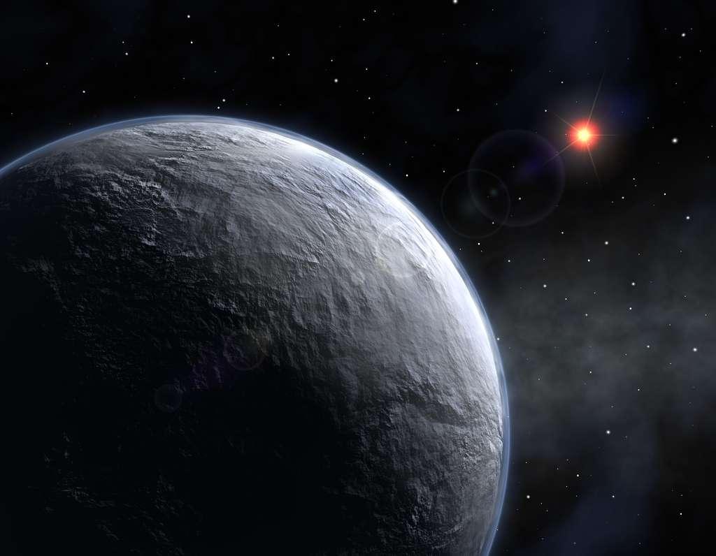 Illustration de la planète glacée Hoth, de son vrai nom OGLE 2005-BLG-390L. © ESO