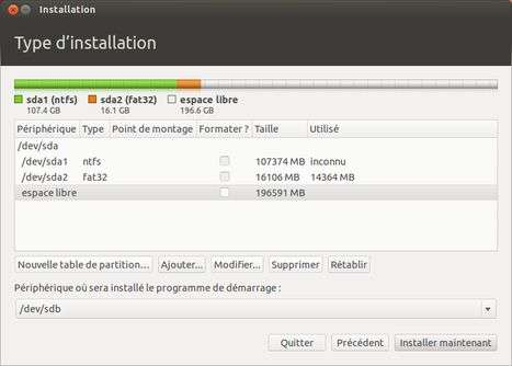 La partition dédiée à Windows est très logiquement formatée en NTFS et celle du système de récupération en FAT32. Ces deux partitions ne doivent faire l'objet d'aucune modification, sous peine de perdre Windows. © Guénaël Pépin