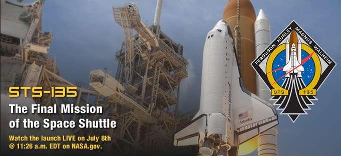 STS 135 : la dernière mission d'une Space Shuttle. Avant longtemps, aucun engin réutilisable civil (car l'US Air Force utilise déjà, au moins à titre expérimental, le mystérieux X37-B) ne sera envoyé dans l'espace. Et les occupants de l'ISS redescendront sur Terre dans des capsules dont la conception remonte aux années 1960. © Nasa