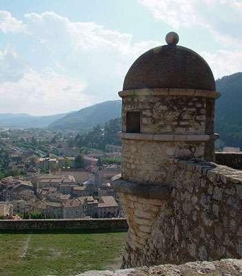 Citadelle de Sisteron, une échauguette. © Régis Martel, GNU, Free Documentation License, Version 1.2